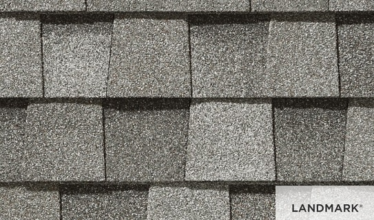 Landmark roofing shingles brown