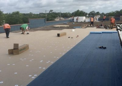 Flat Roof Astro Roofing in progress Ormond Beach
