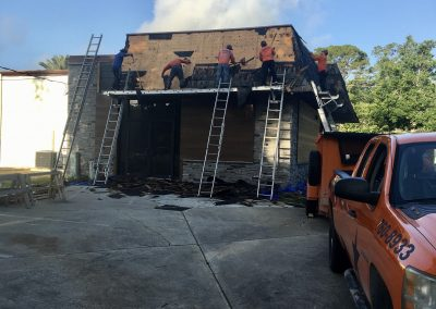 Shingle removal Ormond Beach commercial building by Astro