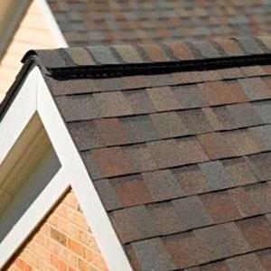 Landmark Roof Shingles Brown Color on house roof