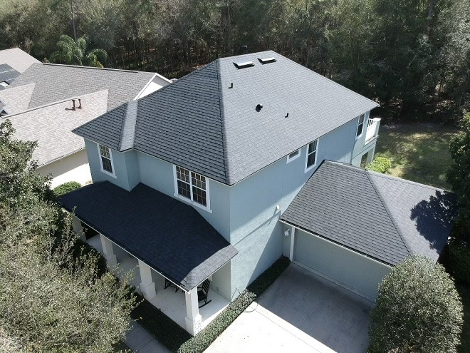 Deland New Roof By Astro aerial shot